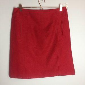 Talbots Wool Blend Front Pocket Straight Skirt